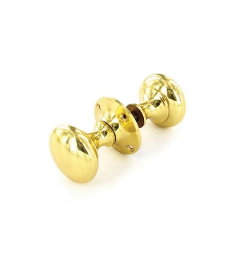 Securit S2222 50mm Victorian Rim Door Knob Set (Brass)