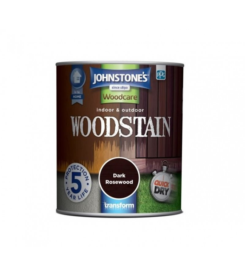 Johnstones Indoor & Outdoor Wood Stain 750ml Dark Rosewood