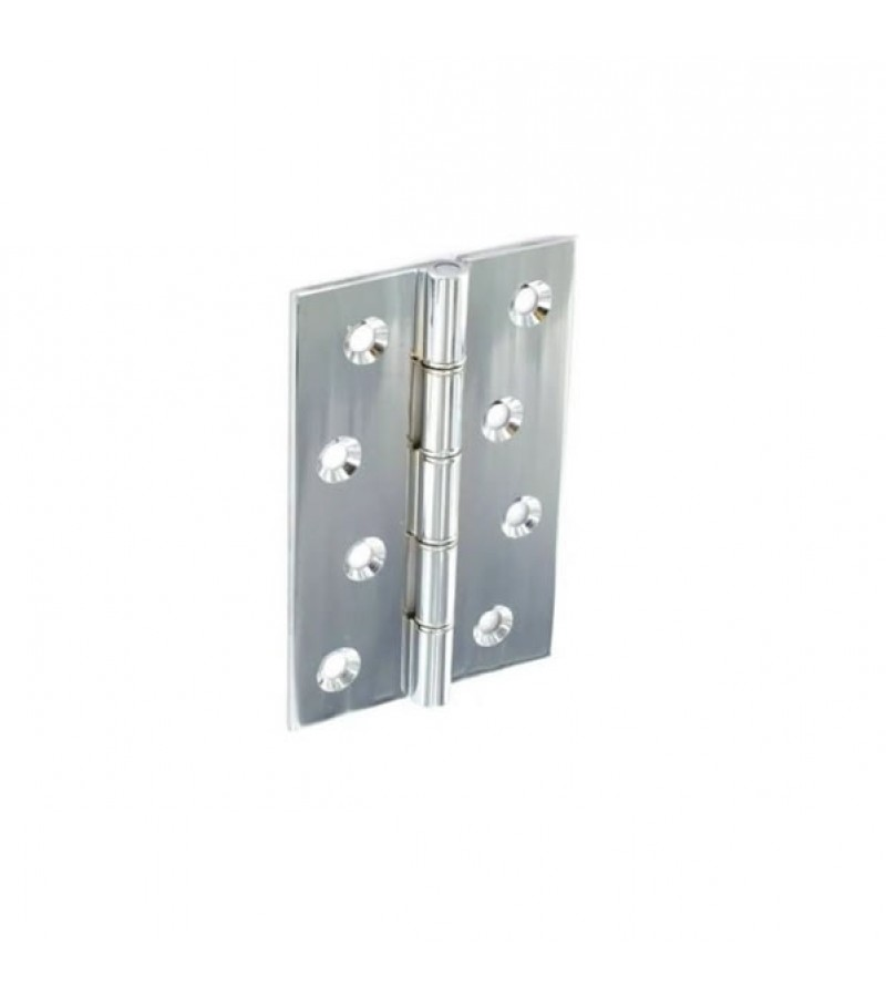 Securit S4151 Chrome Plated D.S.W Hinges 75mm (Pair)