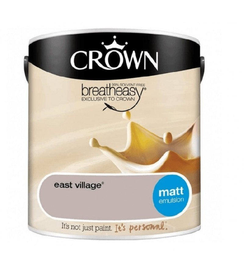 Crown Emulsion Paint 2.5L East Village Matt