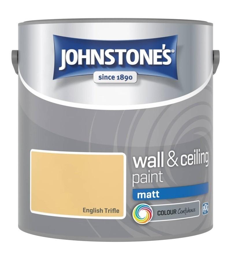 Johnstones Vinyl Emulsion Paint 2.5L English Trifle (Matt)