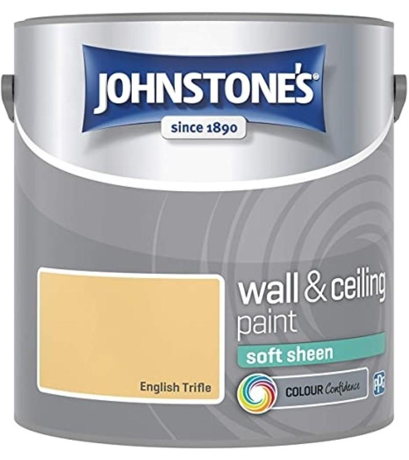 Johnstones Vinyl Emulsion Paint 2.5L English Trifle Soft Sheen