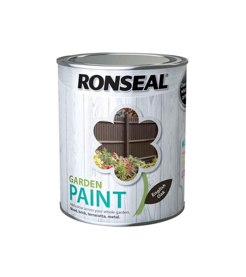 Ronseal Garden Paint 250ml English Oak