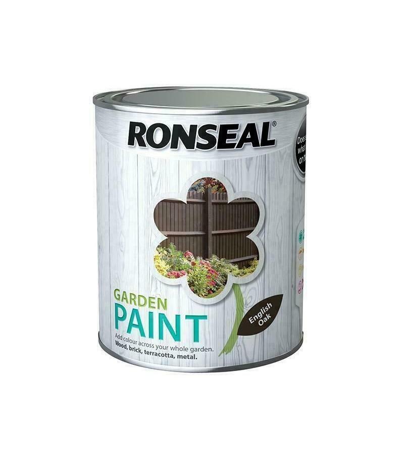 Ronseal Garden Paint 750ml English Oak