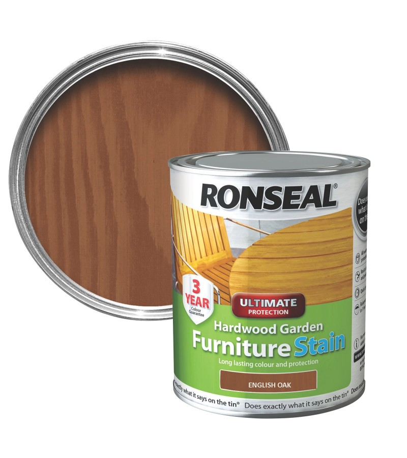 Ronseal Hardwood Furniture Stain 750ml English Oak