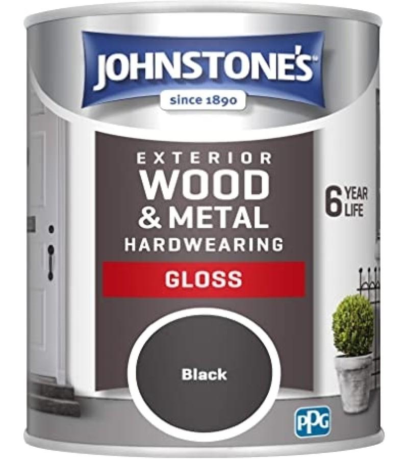 Johnstones Weatherguard Exterior Gloss Paint 2.5L Black