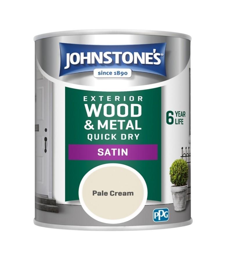 Johnstones Exterior Satin Paint 750ml Pale Cream