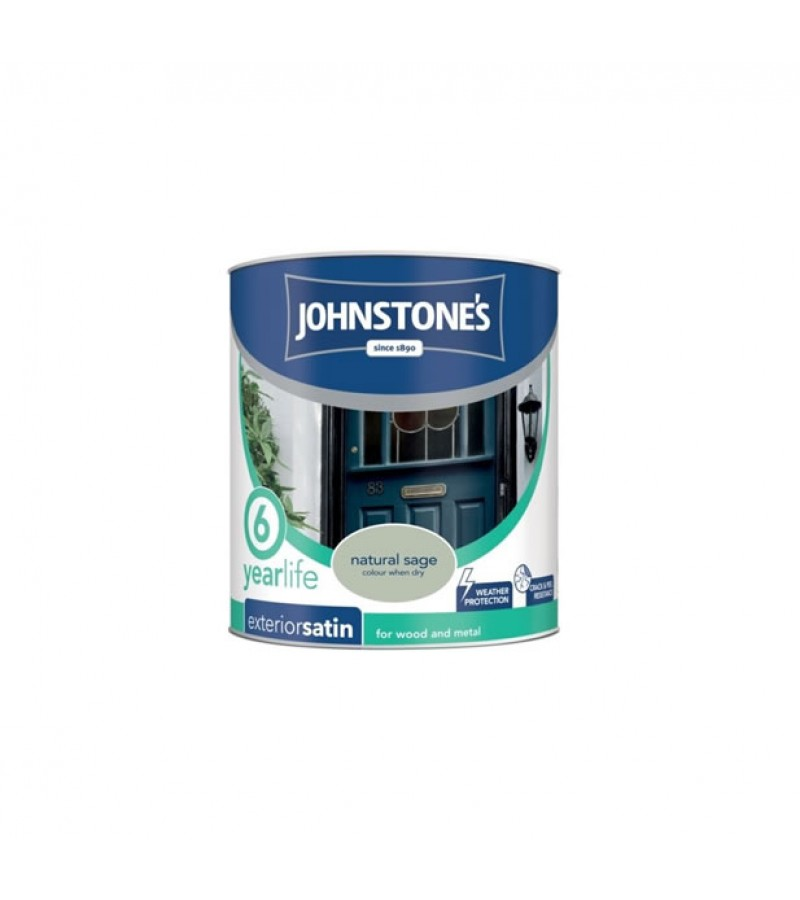 Johnstones Exterior Satin Paint 750ml Natural Sage