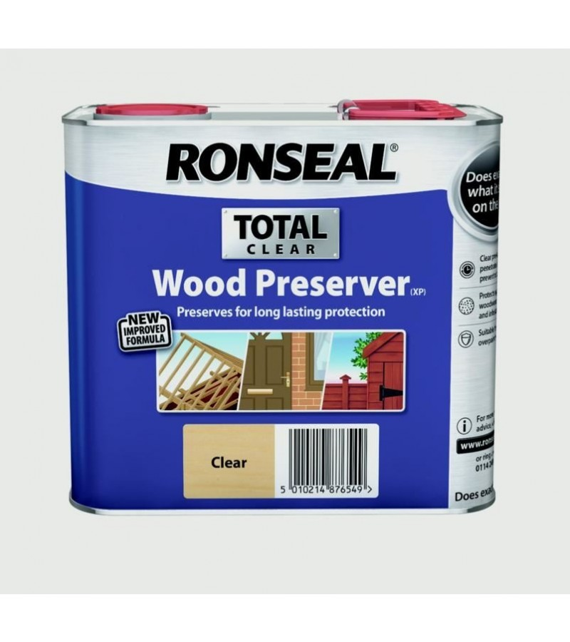 Ronseal Total Wood Preserver 2.5L Clear