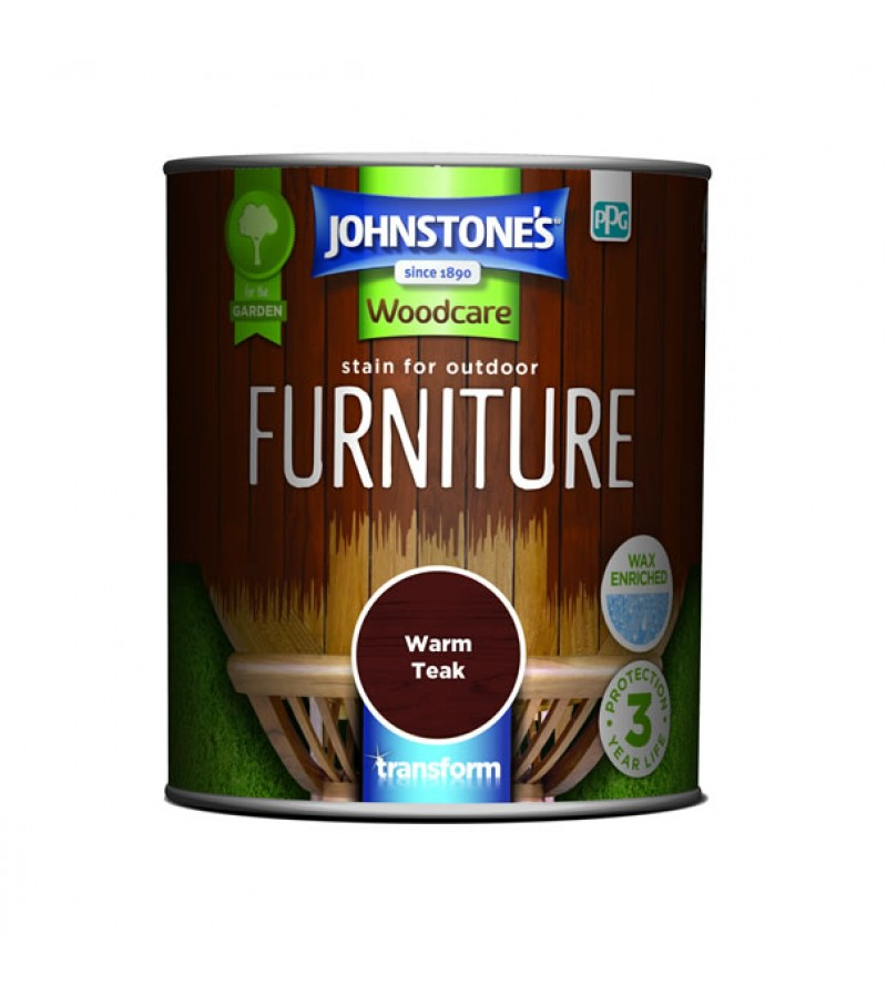Johnstones Outdoor Furniture Stain 750ml Warm Teak