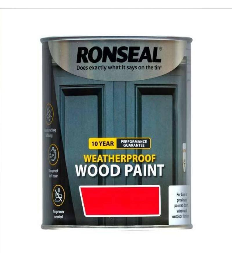 Ronseal 10 Year Weatherproof  Wood Paint Pure Brilliant White Satin 750ml