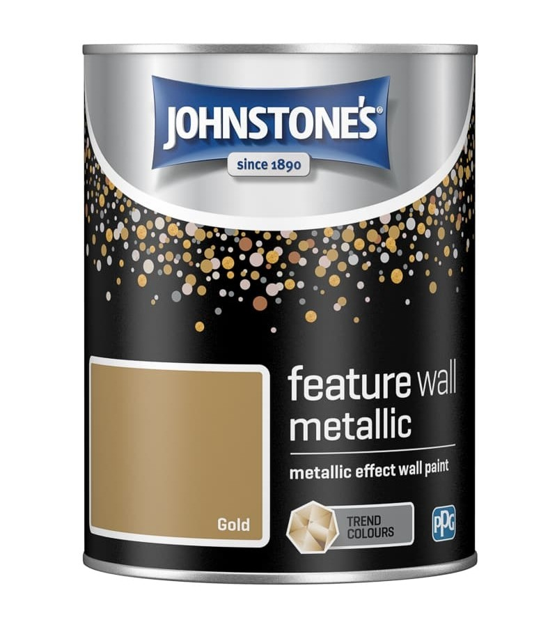 Johnstones Feature Wall Paint 1.25L Metallic Gold