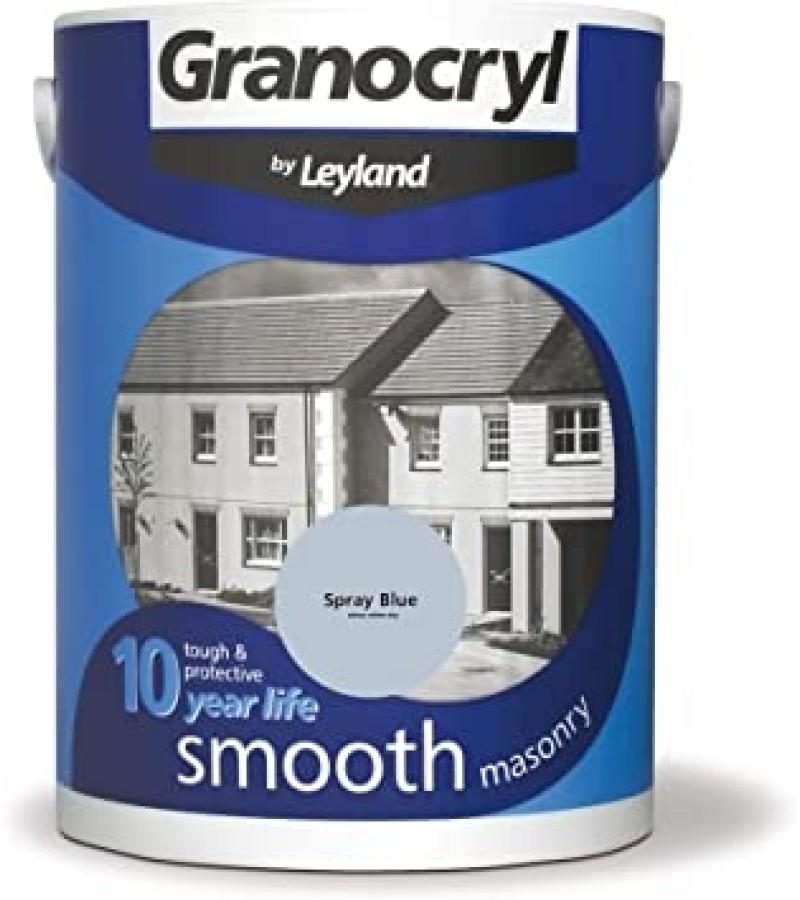 Leyland Granocryl Smooth Masonry Paint 5L Spray Blue