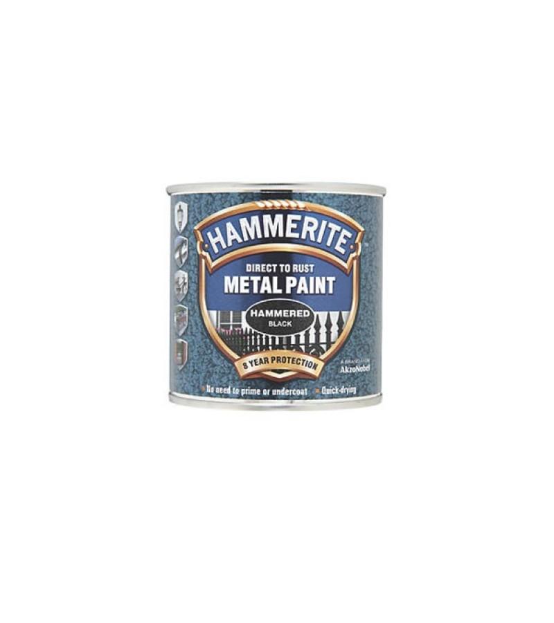 Hammerite Metal Paint 250ml Hammered Black