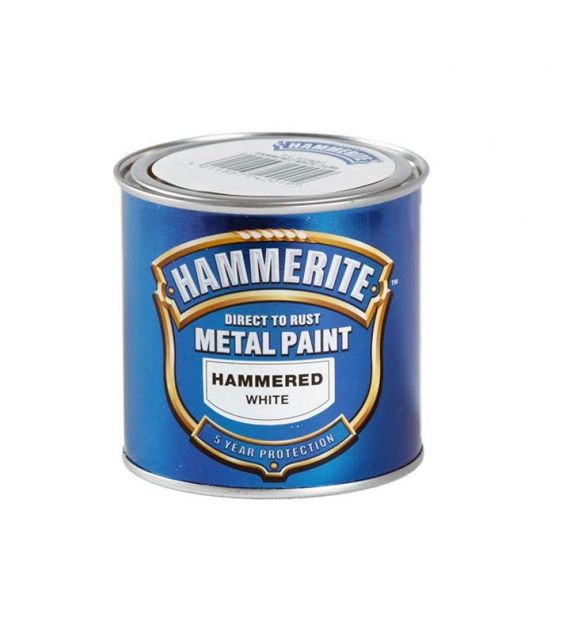 Hammerite Metal Paint 250ml Hammered White