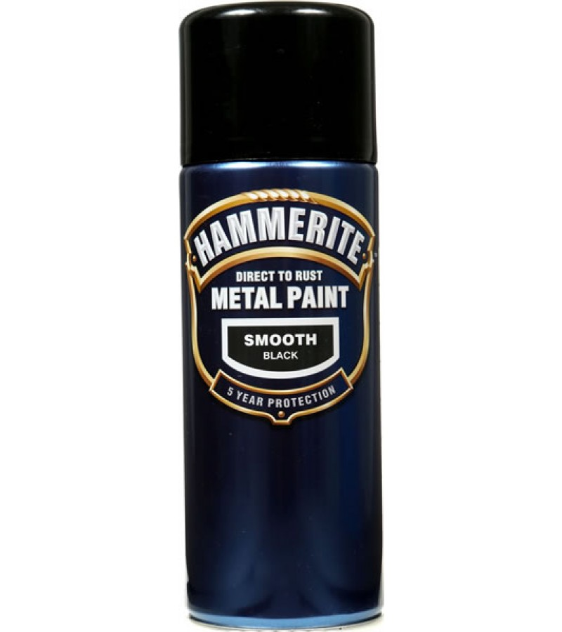 Hammerite Metal Spray Paint 400ml Smooth Black