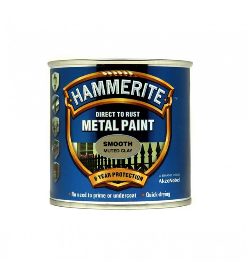 Hammerite Metal Paint 250ml Smooth Muted Clay