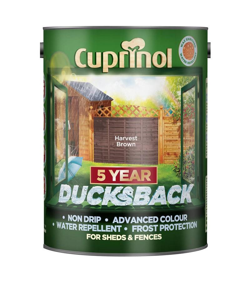 Cuprinol 5 Year Ducksback 5L Harvest Brown
