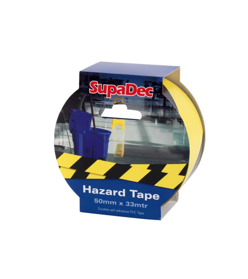 Supadec Hazard Tape 50mm x 33m