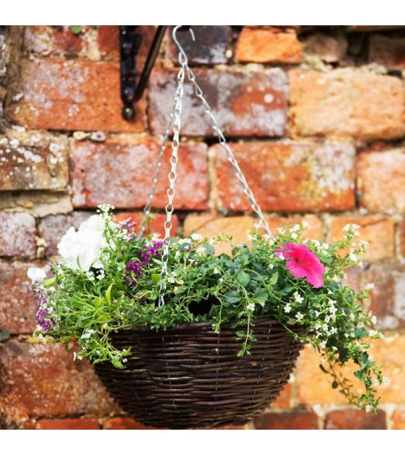 16in Rattan Hanging Basket