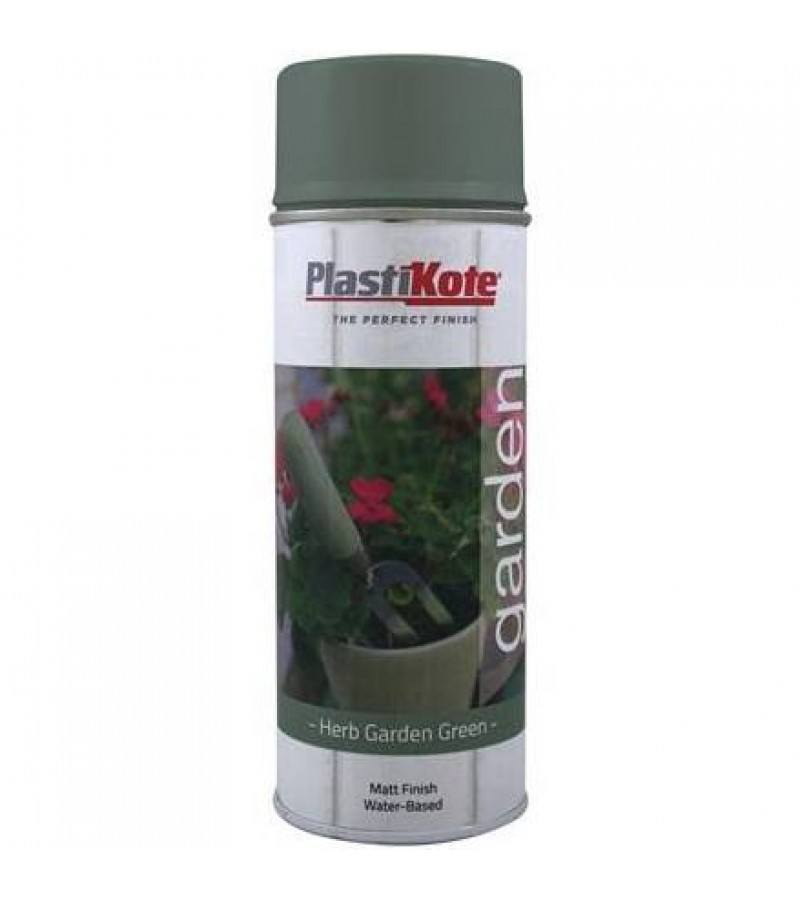 Plasti-Kote Garden Colours Spray Paint 400ml Herb Garden Green