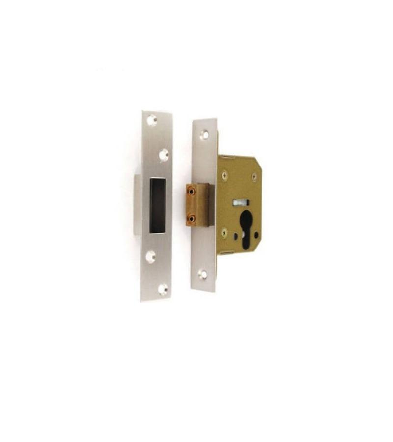 Securit S1855 Euro Deadlock 63mm Nickel Plated