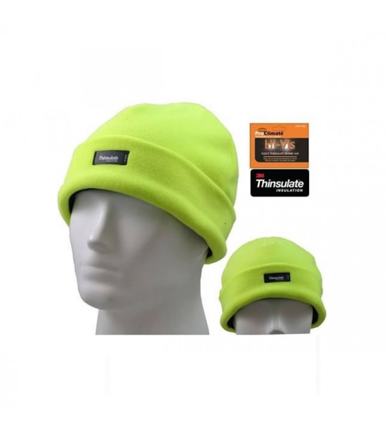 61fc49eef Pro Climate Hi Vis Thinsulate Beanie Hat (One Size)