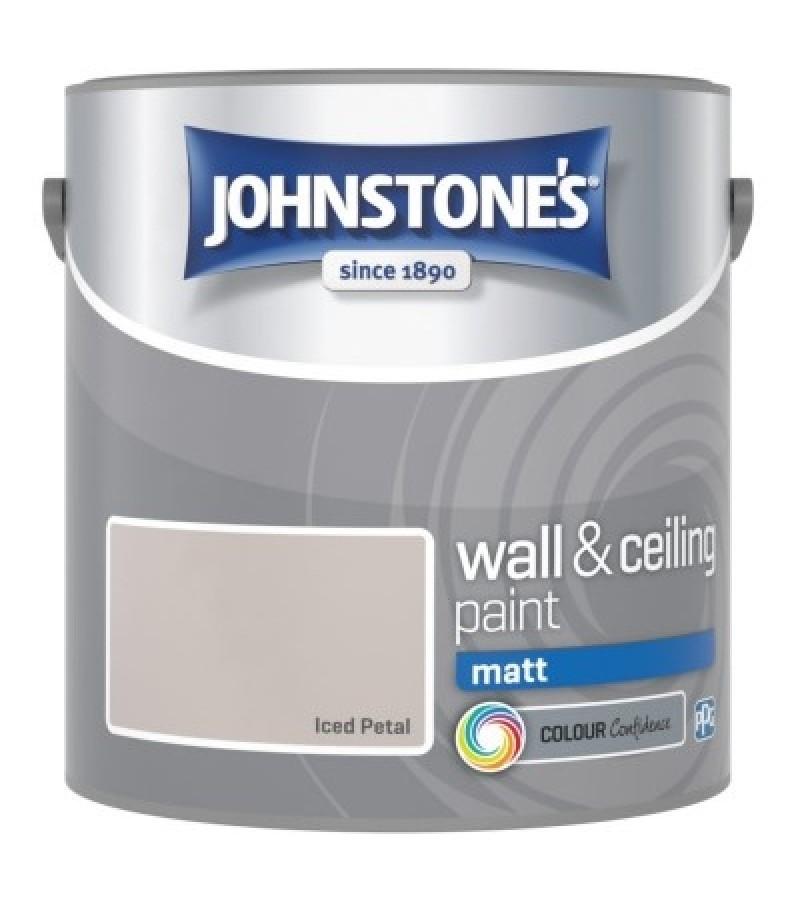 Johnstones Vinyl Emulsion Paint 2.5L Iced Petal (Matt)