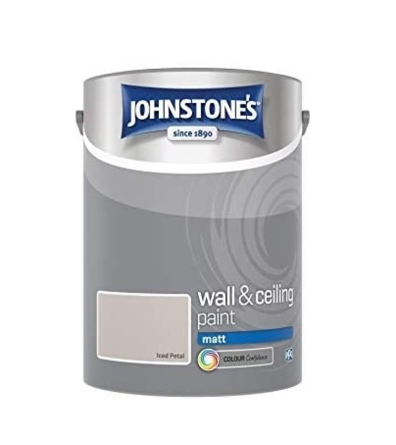 Johnstones Vinyl Emulsion Paint 5L Iced Petal Matt