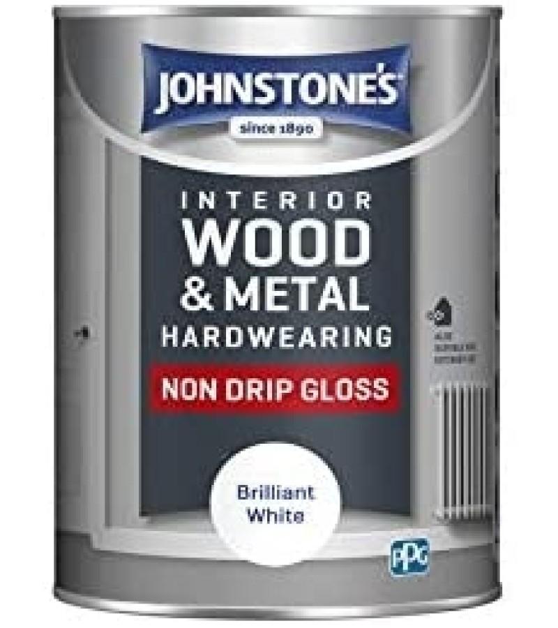 Johnstones Non Drip Gloss Paint 750ml Black