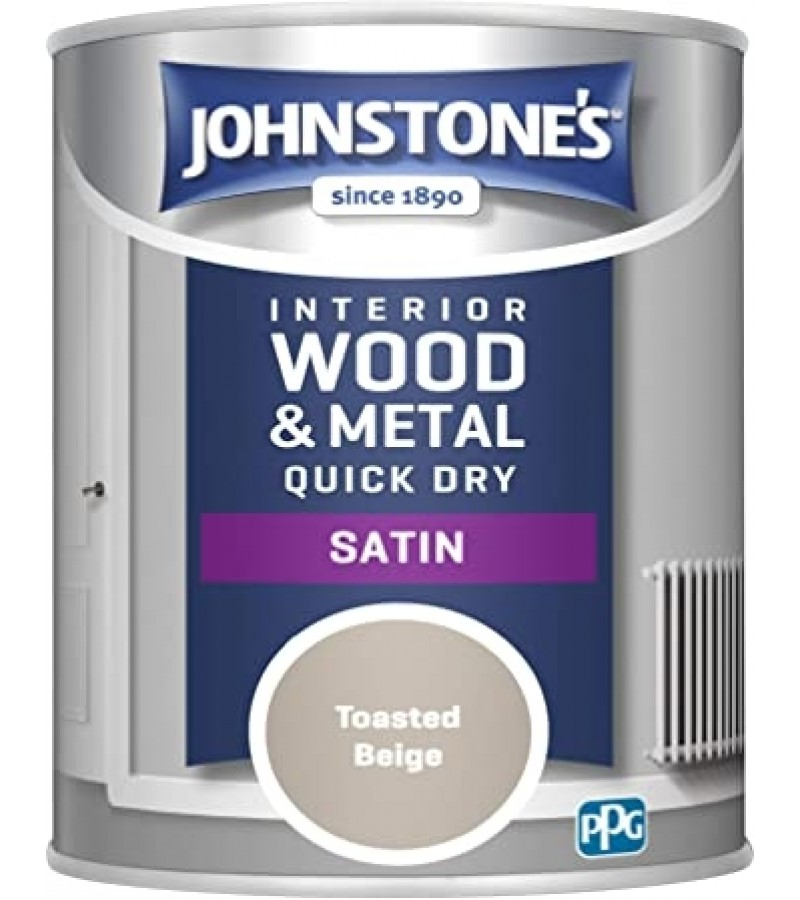 Johnstones Quick Dry Paint 750ml Toasted Beige Satin