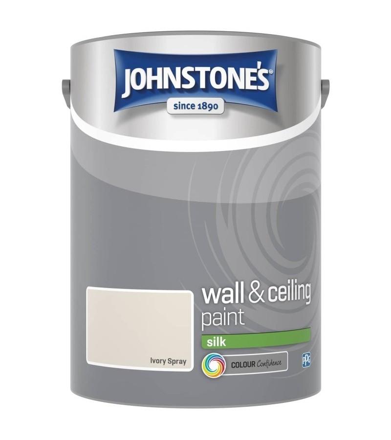 Johnstones Vinyl Emulsion Paint 5L Ivory Spray Silk