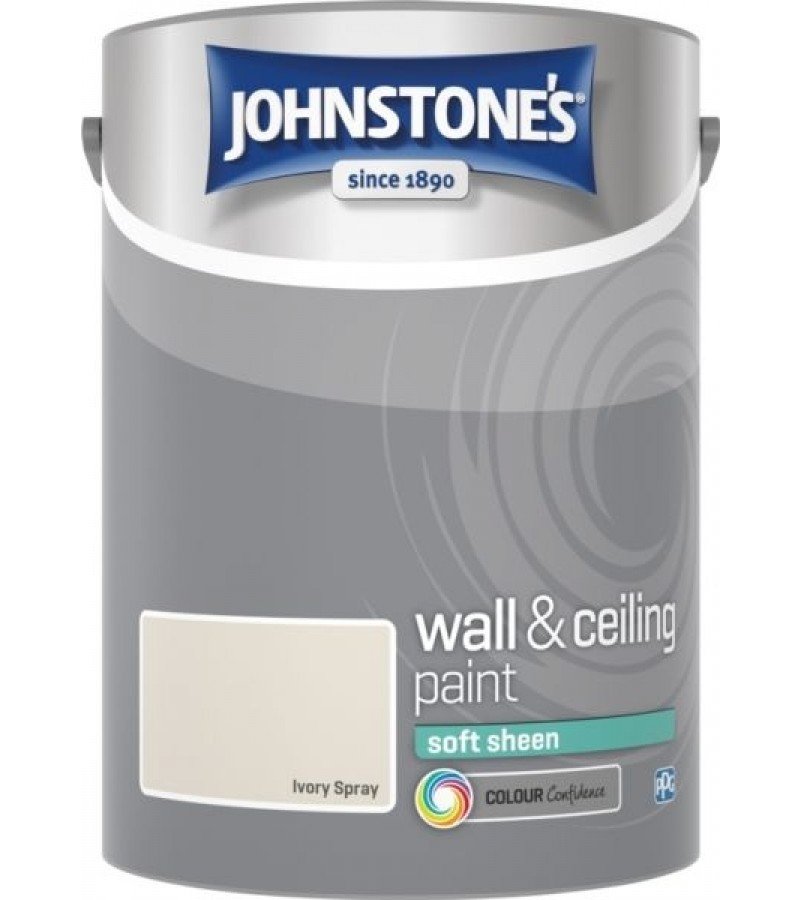 Johnstones Vinyl Emulsion Paint 5L Ivory Spray Soft Sheen