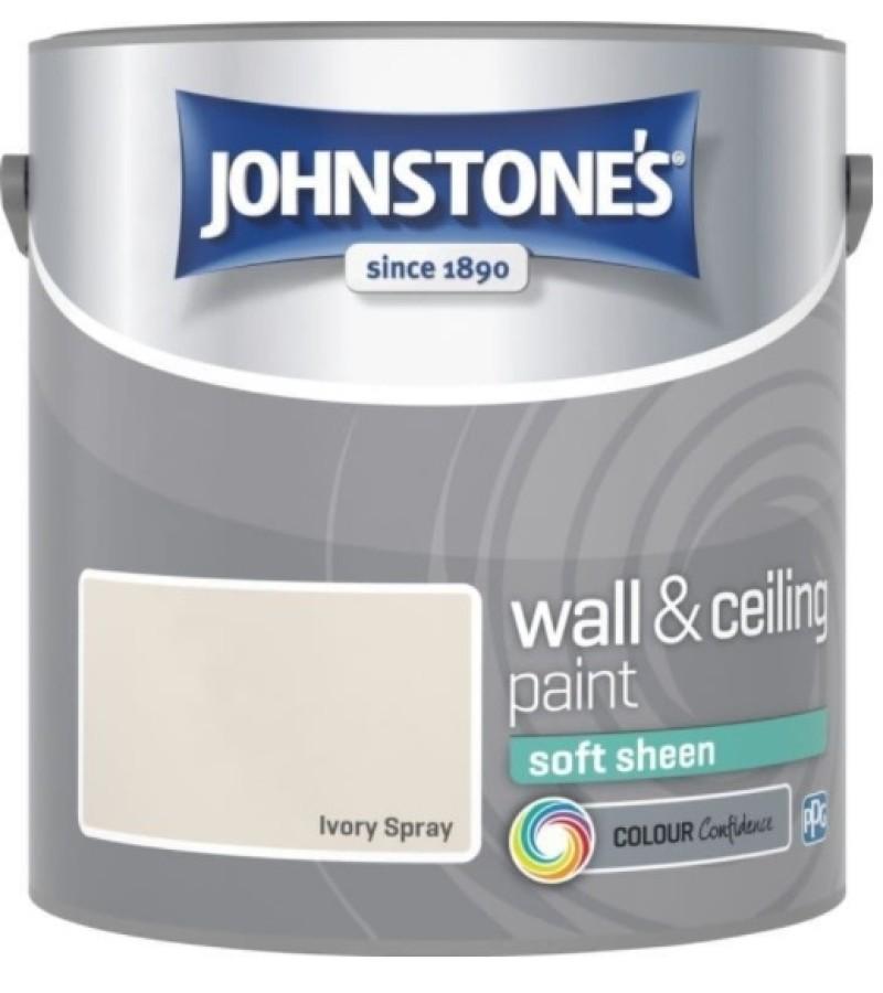 Johnstones Vinyl Emulsion Paint 2.5L Ivory Spray Soft Sheen