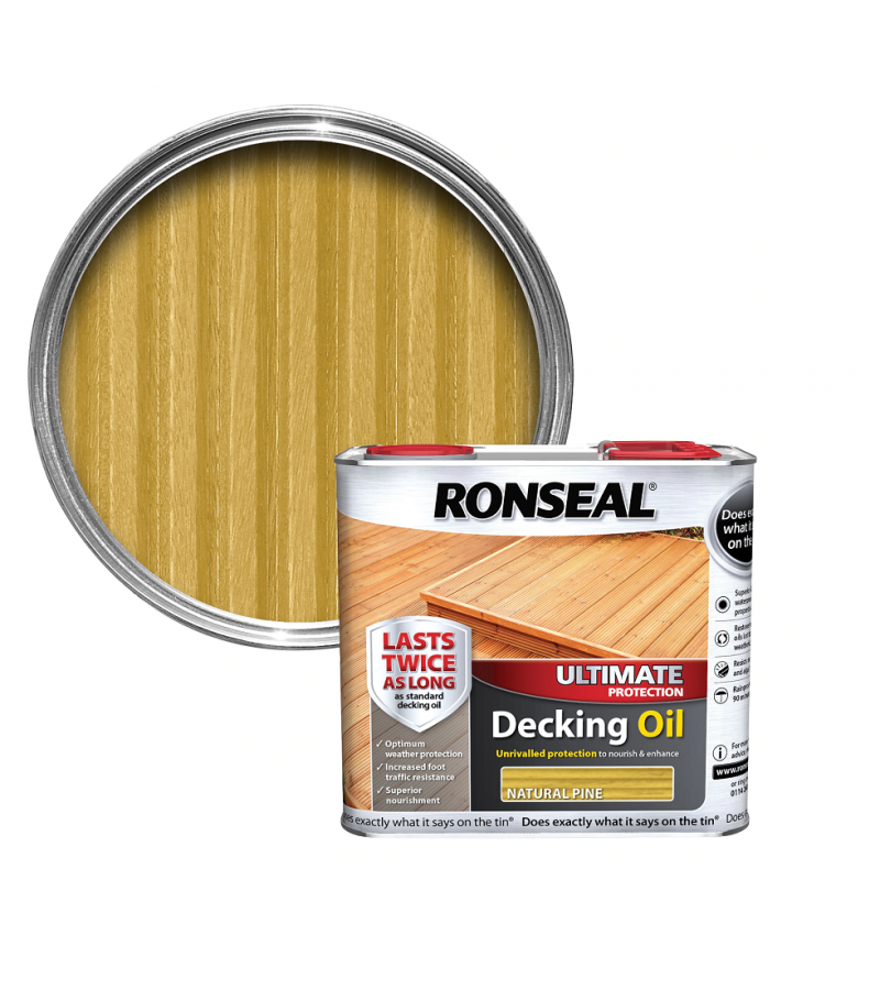 Ronseal Ultimate Decking Oil 2.5L  Natural Pine