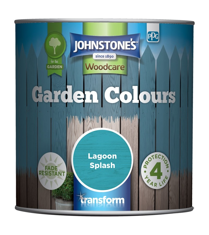 Johnstones Garden Colours Paint 1L Lagoon Splash
