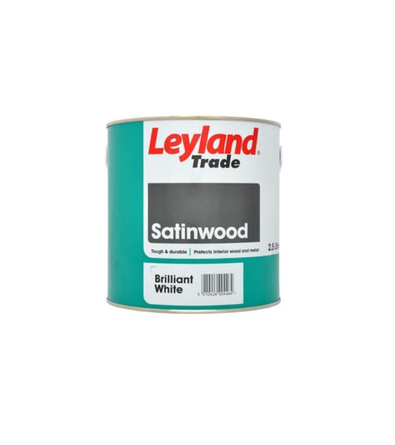 Leyland Satinwood Paint 2.5L Brilliant White
