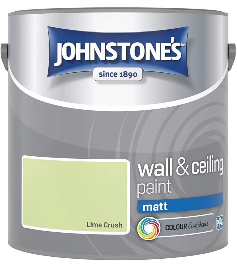 Johnstones Vinyl Emulsion Paint 2.5L Lime Crush Matt