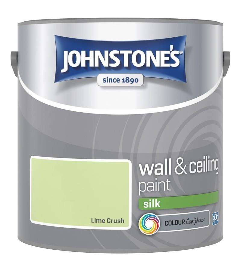 Johnstones Vinyl Emulsion Paint 2.5L Lime Crush Silk