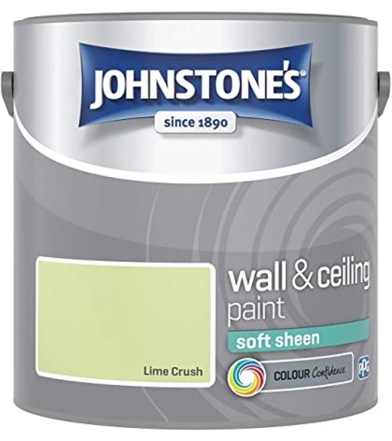Johnstones Vinyl Emulsion Paint 2.5L Lime Crush Soft Sheen