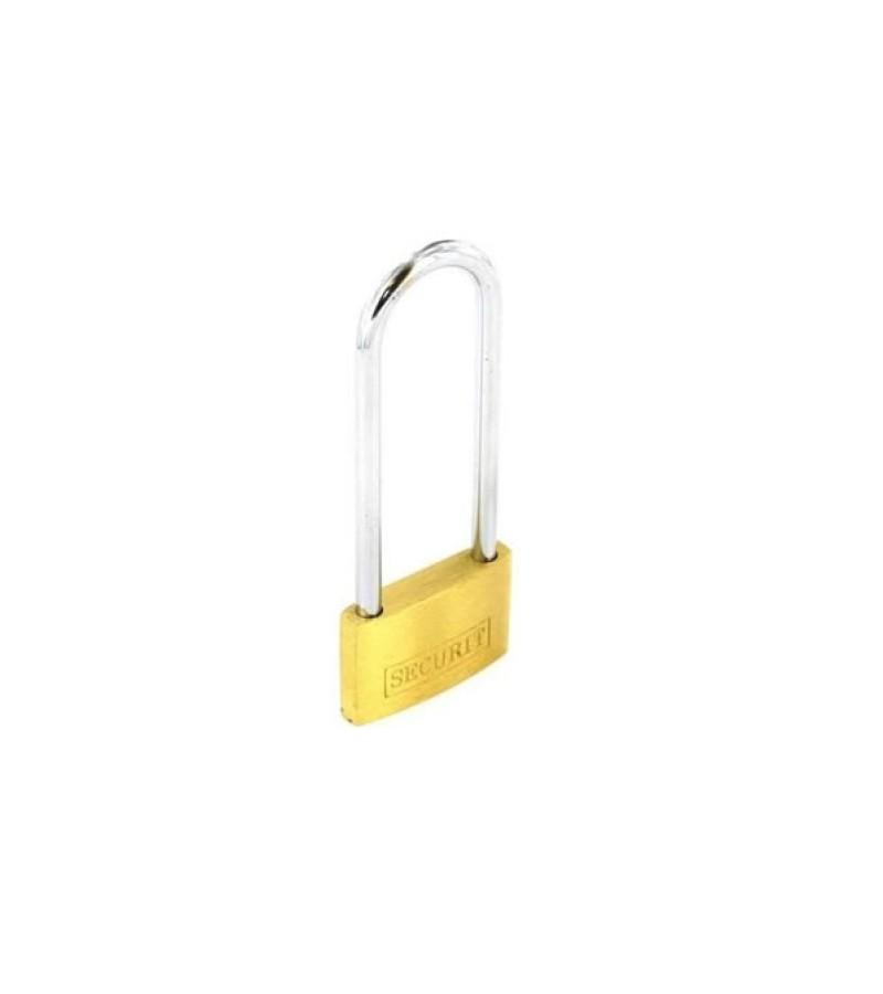Securit S1160 Brass Long Shackle Padlock 50mm