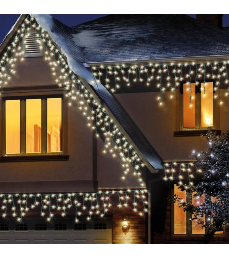 new style f5c11 d9f21 Snowing Icicle Lights (480 Pack) Warm White