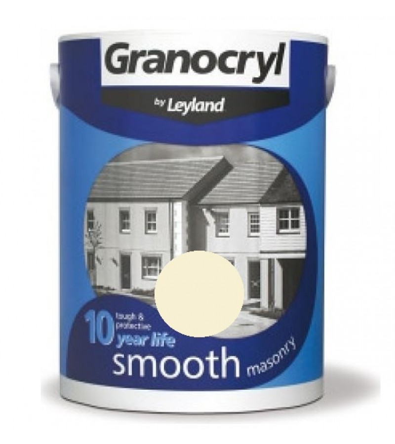 Leyland Granocryl Smooth Masonry Paint 5L Magnolia