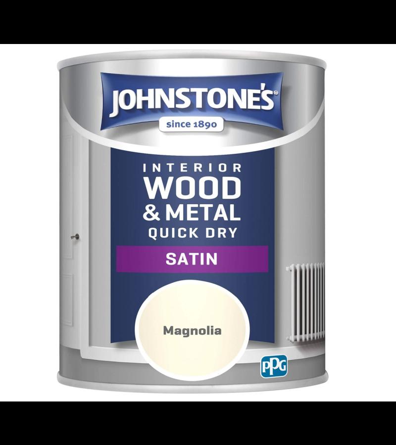 Johnstones Quick Dry Satin Paint 750ml Magnolia