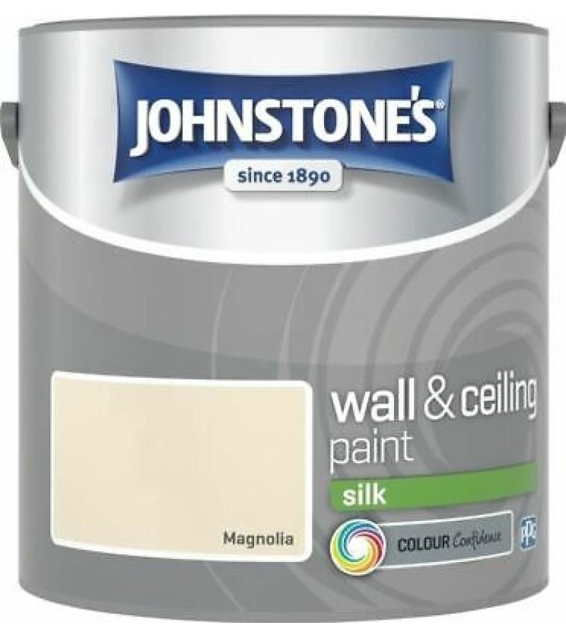 Johnstones Vinyl Emulsion Paint 2.5L Magnolia (Silk)