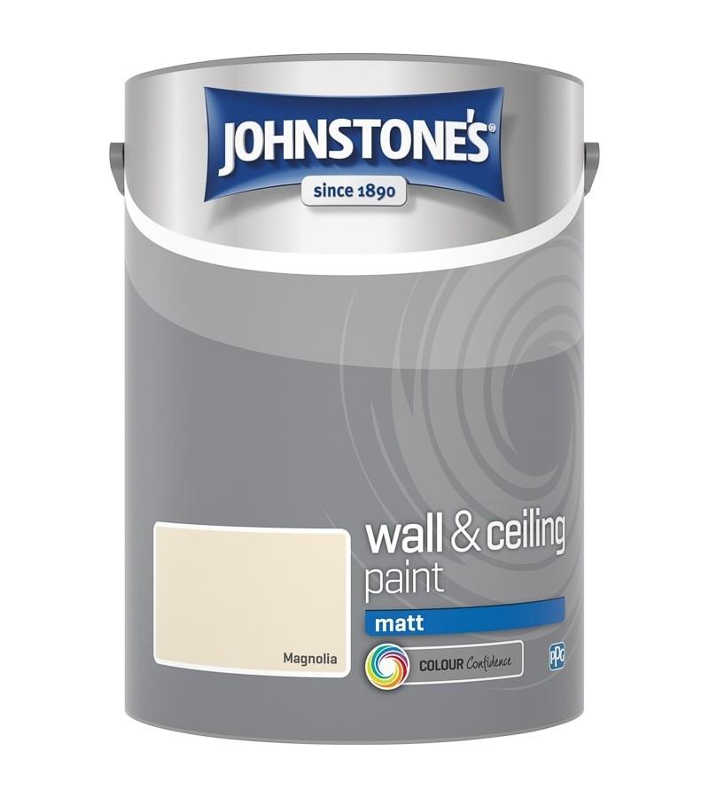 Johnstones Vinyl Emulsion Paint 5L Magnolia Matt