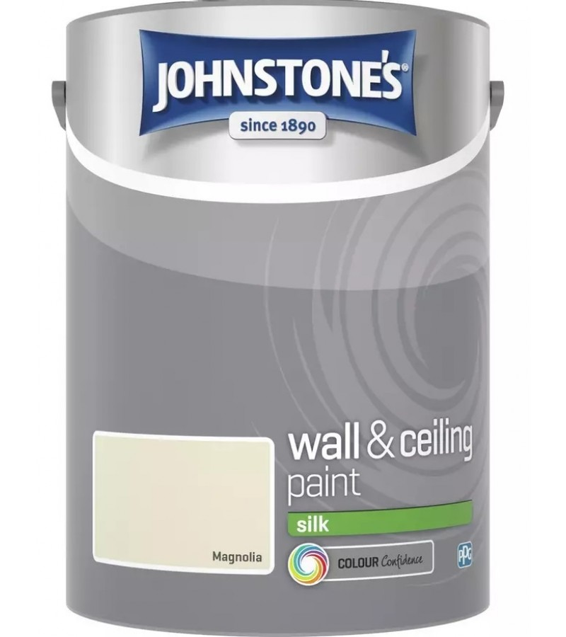 Johnstones Vinyl Emulsion Paint 5L Magnolia Silk