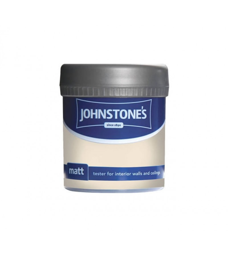 Johnstones Vinyl Emulsion Tester Pot 75ml Magnolia (Matt)