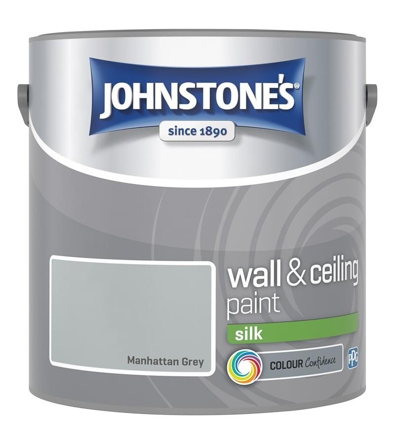 Johnstones Vinyl Emulsion Paint 2.5L Manhattan Grey (Silk)