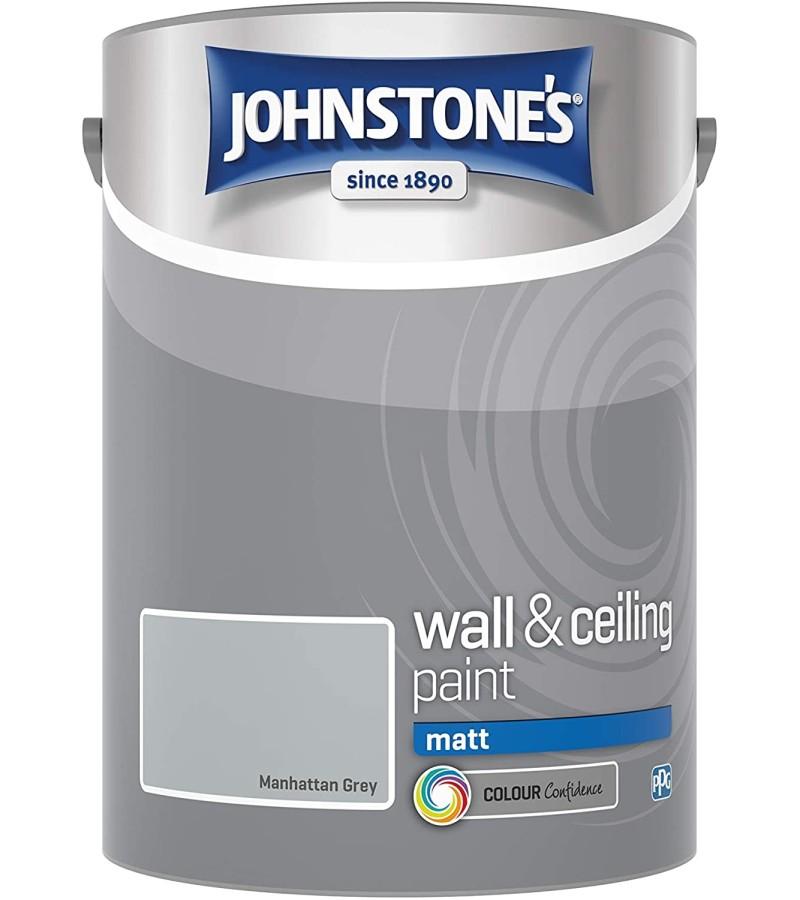 Johnstones Vinyl Emulsion Paint 5L Manhattan Grey (Matt)